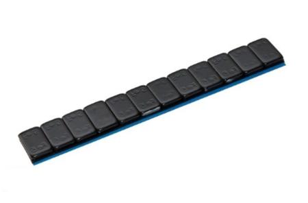 Ciężarek klejony stalowy CZARNY (12x5g)